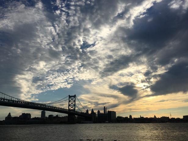 View of Philly / Ben Franklin Bridge from Camden
